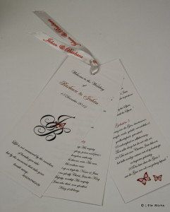 Multipage Order of Service which can be attached to a wooden fan