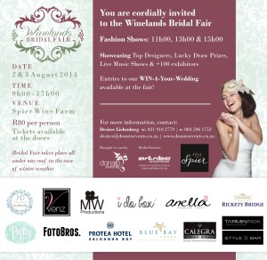 Invite - Winelands Bridal Fair (2362 x 2303)